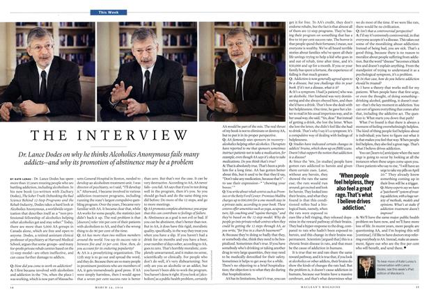 Article Preview: THE INTERVIEW, March 2014 | Maclean's