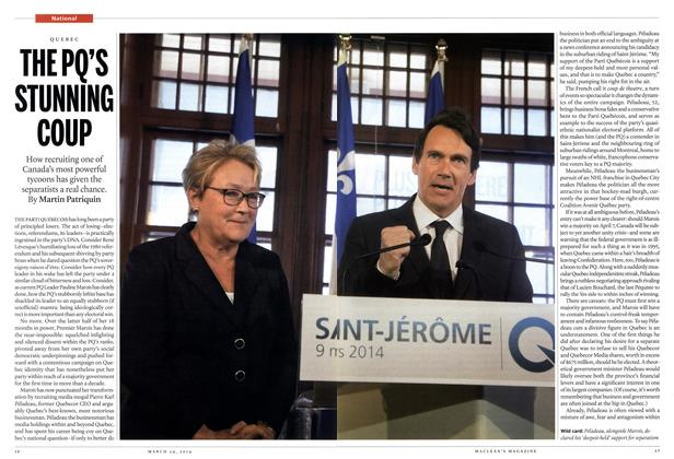 Article Preview: THE PQ'S STUNNING COUP, March 2014 | Maclean's