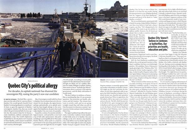 Article Preview: Quebec City's political allergy, March 2014   Maclean's