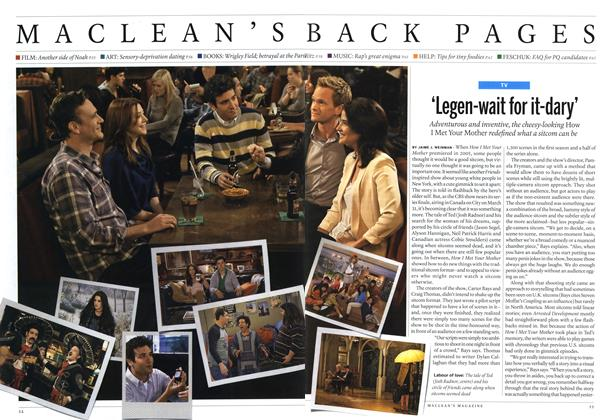 Article Preview: 'Legen-wait for it-dary', March 2014 | Maclean's