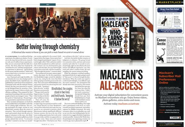 Article Preview: Better loving through chemistry, March 2014   Maclean's