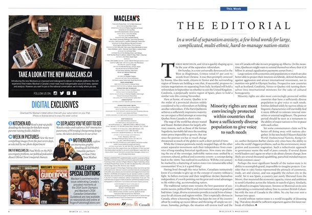 Article Preview: Advertisement, March 2014   Maclean's