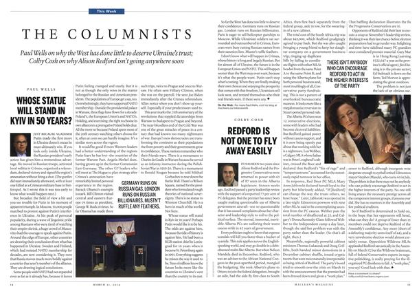 Article Preview: THE COLUMNISTS, March 2014 | Maclean's