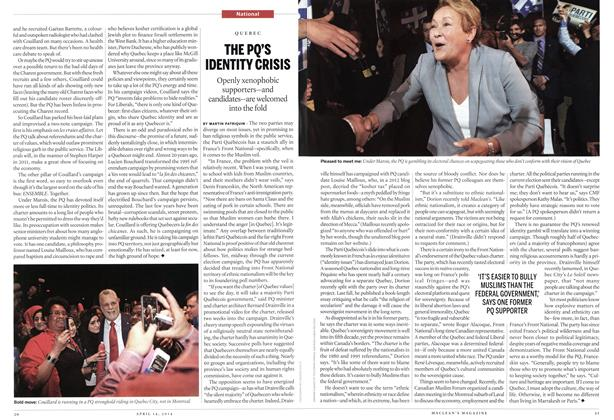Article Preview: THE PQ'S IDENTITY CRISIS, April 2014 | Maclean's