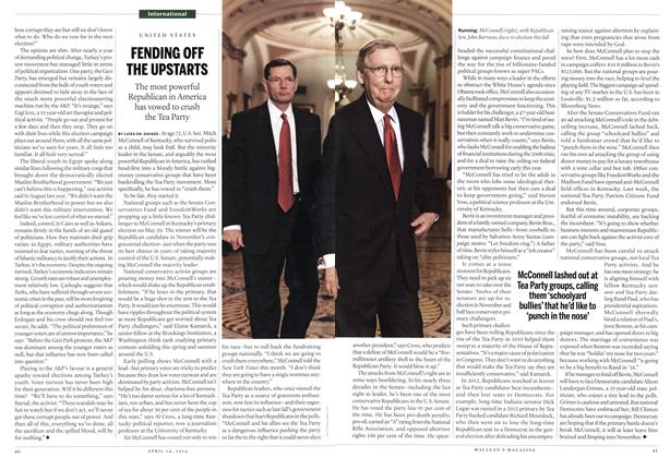 Article Preview: FENDING OFF THE UPSTARTS, April 2014 | Maclean's