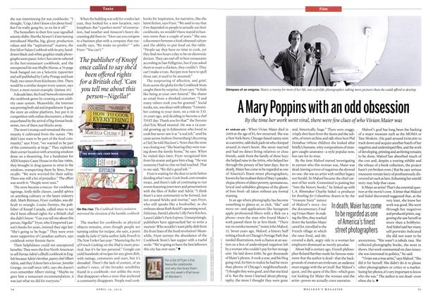 Article Preview: A Mary Poppins with an odd obsession, April 2014 | Maclean's