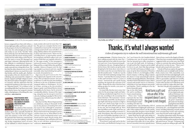 Article Preview: Thanks, it's what I always wanted, April 2014 | Maclean's