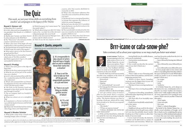 Article Preview: Brrr-icane or cata-snow-phe?, April 2014 | Maclean's