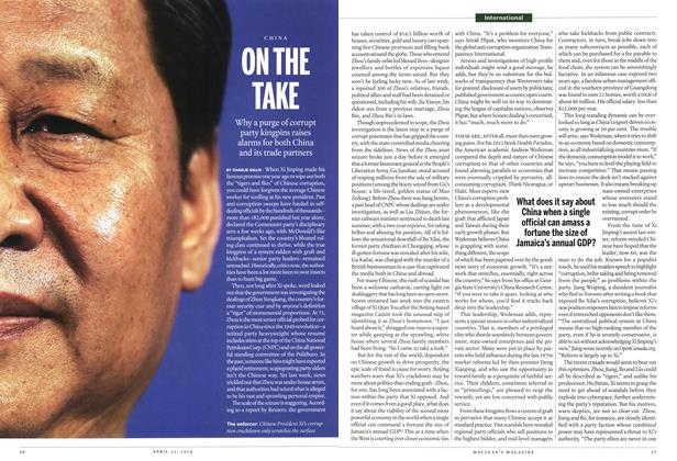 Article Preview: ON THE TAKE, April 2014 | Maclean's