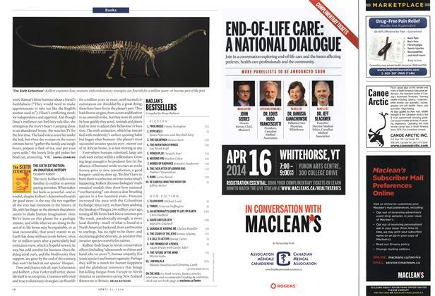Article Preview: MACLEAN'S BESTSELLERS, April 2014 | Maclean's