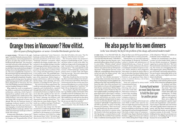 Article Preview: Orange trees in Vancouver? How elitist., April 2014 | Maclean's