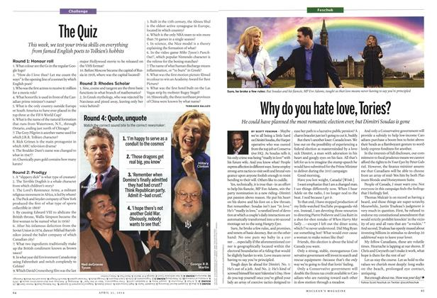 Article Preview: The Quiz, April 2014 | Maclean's