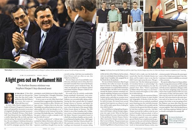 Article Preview: A light goes out on Parliament Hill, April 2014 | Maclean's