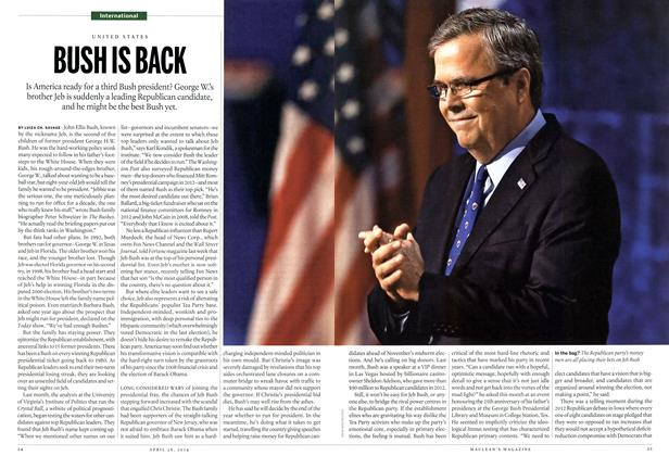 Article Preview: BUSH IS BACK, April 2014 | Maclean's