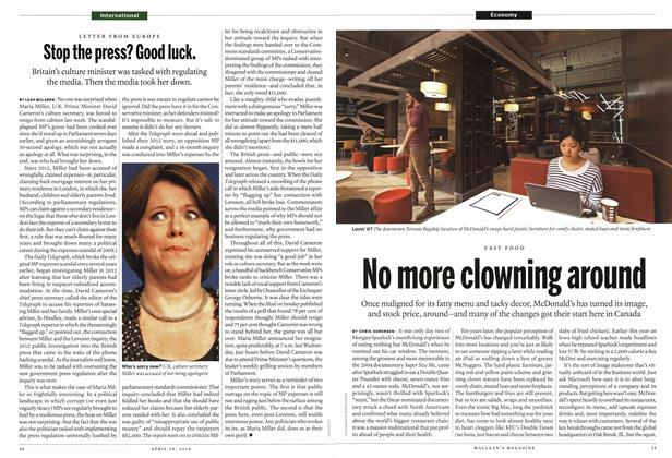 Article Preview: No more clowning around, April 2014 | Maclean's