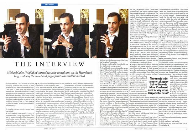 Article Preview: THE INTERVIEW, April 2014 | Maclean's