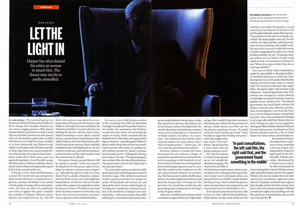 Article Preview: LET THE LIGHT IN, April 2014 | Maclean's