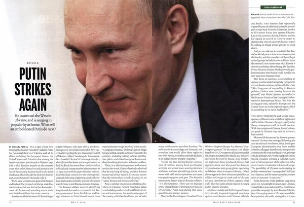 Article Preview: PUTIN STRIKES AGAIN, May 2014 | Maclean's