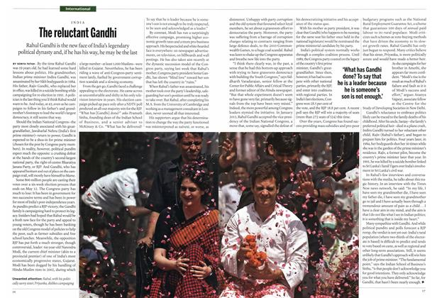 Article Preview: The reluctant Gandhi, May 2014 | Maclean's