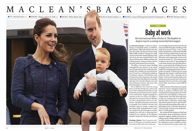 Article Preview: Baby at work, May 2014 | Maclean's