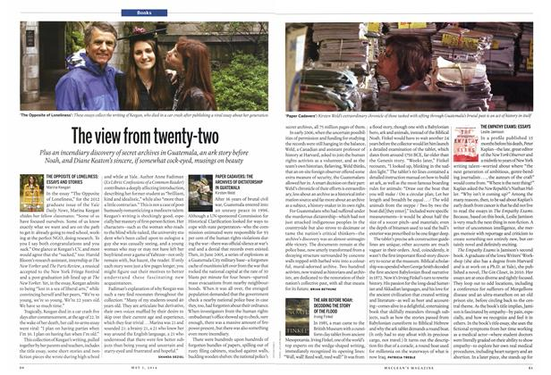 Article Preview: The view from twenty-two, May 2014 | Maclean's