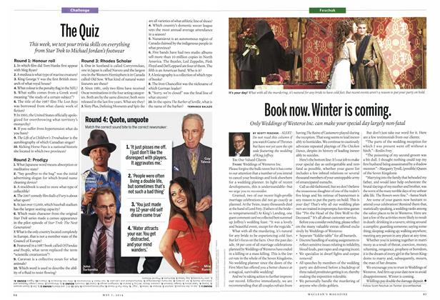 Article Preview: The Quiz, May 2014 | Maclean's