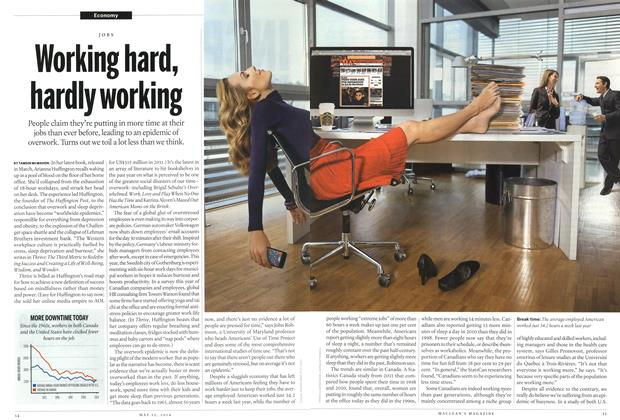 Article Preview: Working hard, hardly working, May 2014 | Maclean's