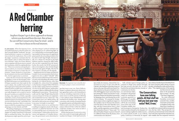 Article Preview: A Red Chamber herring, May 2014 | Maclean's