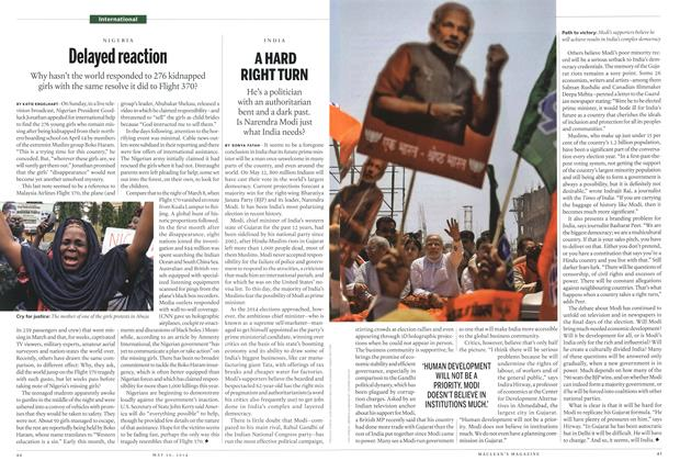 Article Preview: A HARD RIGHT TURN, May 2014 | Maclean's
