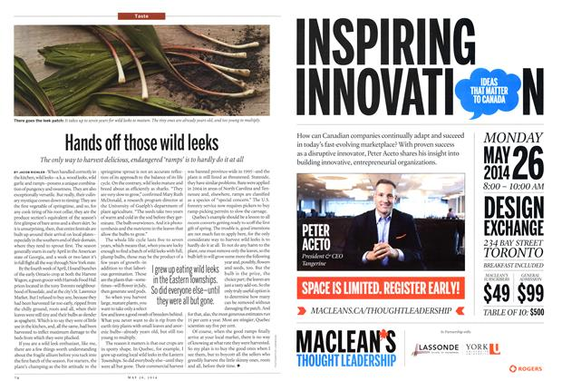 Article Preview: Hands off those wild leeks, May 2014 | Maclean's