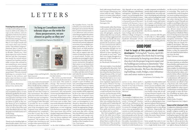 Article Preview: LETTERS, May 2014 | Maclean's