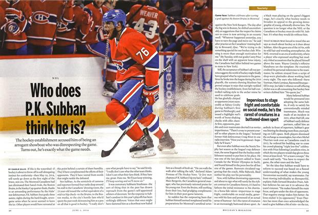Article Preview: Who does P.K. Subban think he is?, June 2014 | Maclean's