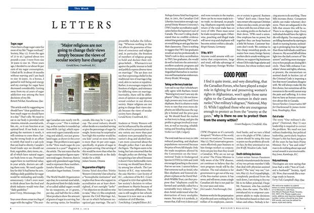 Article Preview: LETTERS, June 2014 | Maclean's