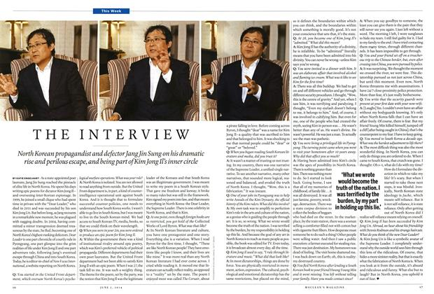 Article Preview: THE INTERVIEW, June 2014 | Maclean's
