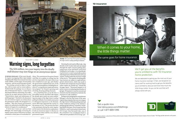 Article Preview: Warning signs, long forgotten, JUNE 9,2014 2014 | Maclean's