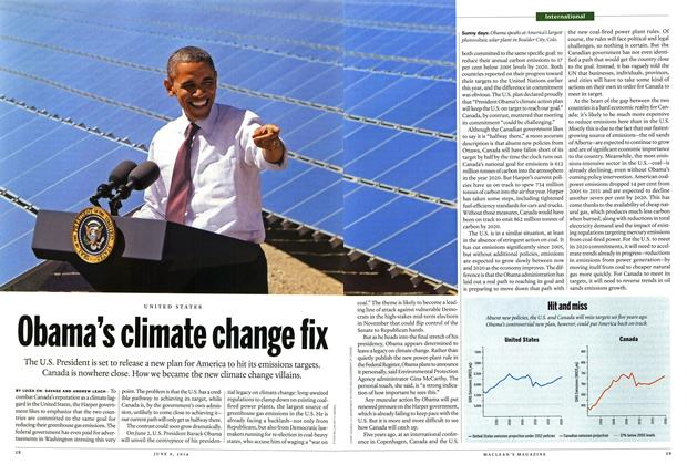 Article Preview: Obama's climate change fix, JUNE 9,2014 2014 | Maclean's