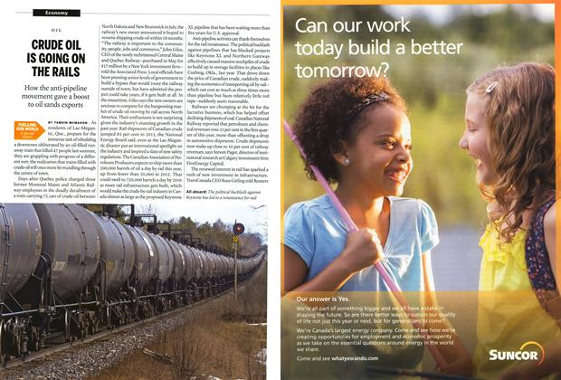 Article Preview: CRUDE OIL IS GOING ON THE RAILS, JUNE 9,2014 2014 | Maclean's