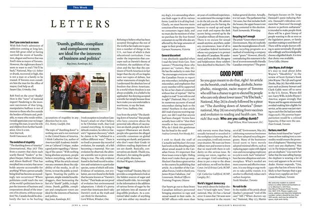 Article Preview: LETTERS, JUNE 9,2014 2014 | Maclean's