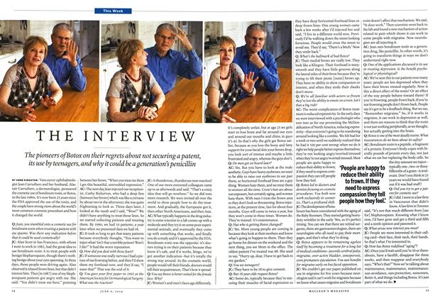 Article Preview: THE INTERVIEW, JUNE 9,2014 2014 | Maclean's
