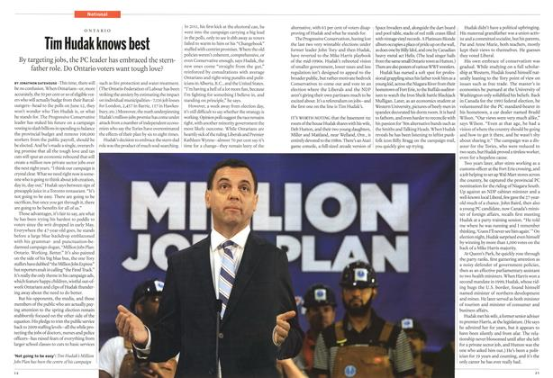 Article Preview: Tim Hudak knows best, June 2014 | Maclean's