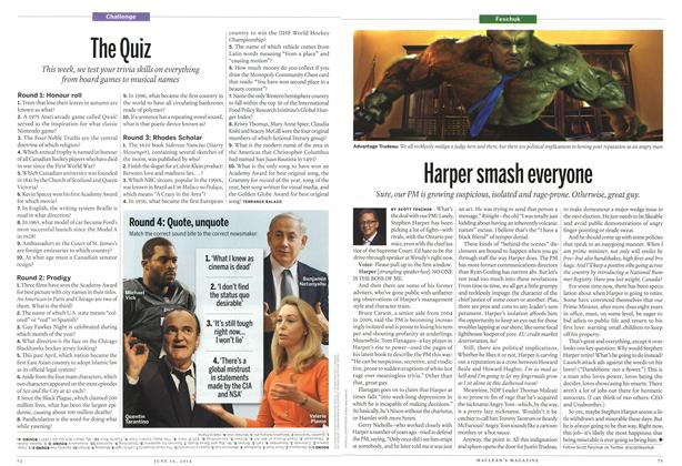 Article Preview: The Quiz, June 2014 | Maclean's