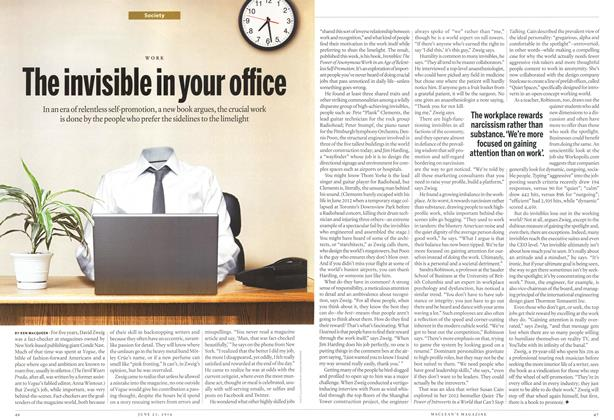 Article Preview: The invisible in your office, >JUNE 23,2014 2014 | Maclean's