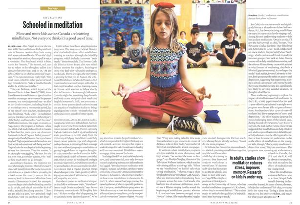 Article Preview: Schooled in meditation, >JUNE 23,2014 2014 | Maclean's