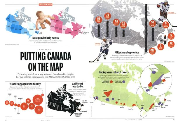 Article Preview: PUTTING CANADA ON THE MAP, July 2014 | Maclean's