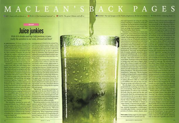 Article Preview: Juice junkies, July 2014 | Maclean's