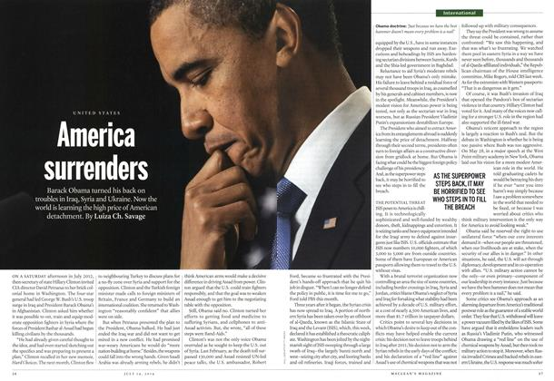Article Preview: America surrenders, July 2014 | Maclean's