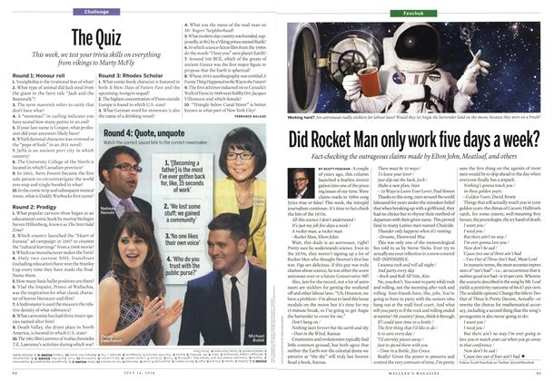 Article Preview: The Quiz, July 2014 | Maclean's