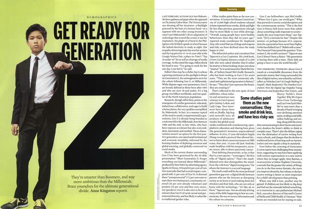 Article Preview: GET READY FOR GENERATION, July 2014 | Maclean's