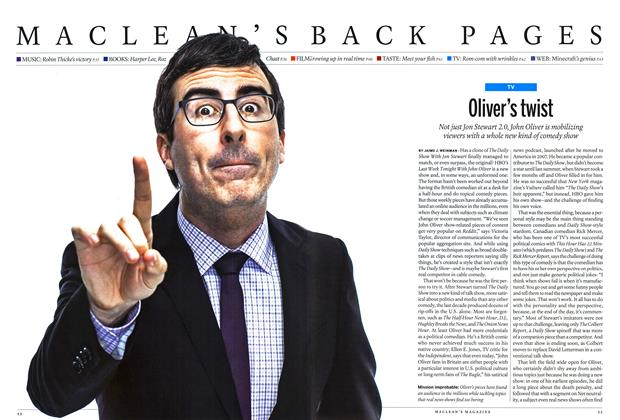 Article Preview: Oliver's twist, July 2014 | Maclean's