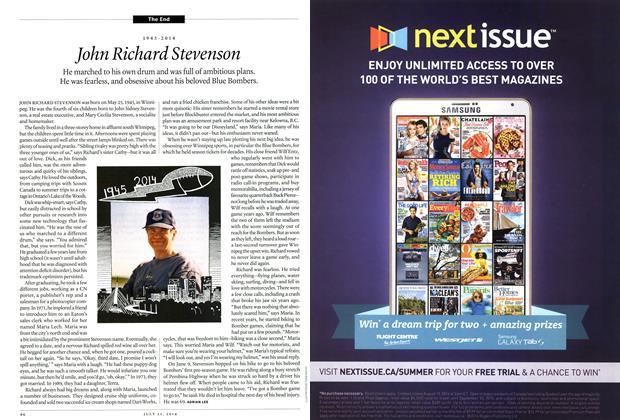 Article Preview: John Richard Stevenson, July 2014 | Maclean's